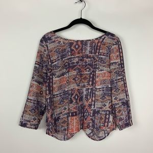 Anthropologie Japna Open back crop top